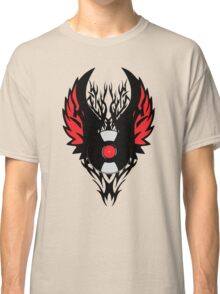 PUNK ROCK DJ Vinyl Record Art with Tribal Spikes and Wings  Classic T-Shirt