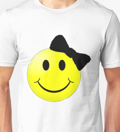 Smiley Face With Bow Unisex T-Shirt