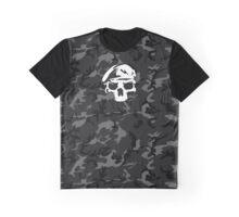 Camo Special Force Skull Graphic T-Shirt