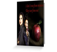 Regina Mills/Evil Queen Greeting Card