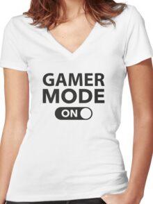 Gamer Mode On Women's Fitted V-Neck T-Shirt