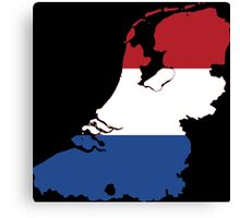 Netherlands Flag Map Canvas Print