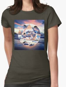 Geometric Ocean Abstract Womens Fitted T-Shirt