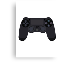This Is For The Players - PS4 Controller Black Canvas Print