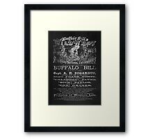 Buffalo Bill - Wild West Framed Print