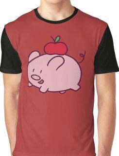 Apple Pig Graphic T-Shirt