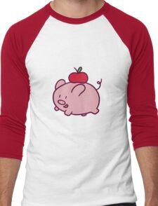 Apple Pig Men's Baseball ¾ T-Shirt