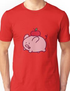 Apple Pig Unisex T-Shirt