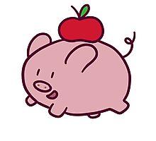 Apple Pig Photographic Print
