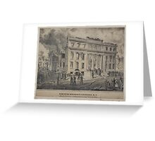 499 Ruins of the Merchant's Exchange NY After the destructive conflagration of Decbr 16 17 1835 N Currier's Press sketched and drawn on stone by J H Bufford and two lines of Greeting Card