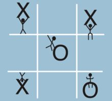 Stickmen Playing Tic Tac Toe T-Shirt