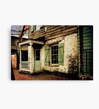 This Old House Is Haunted by Ghosts Canvas Print
