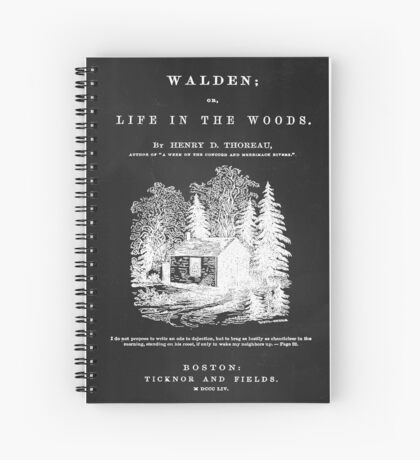 Walden - Life in the Woods Spiral Notebook