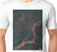 Philadelphia Map Red Unisex T-Shirt