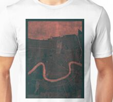 New Orleans Map Red Unisex T-Shirt