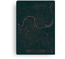Nashville Map Red Canvas Print