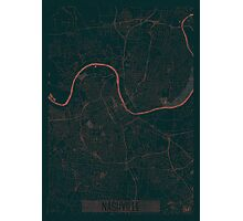 Nashville Map Red Photographic Print