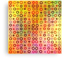 Playful circles Canvas Print