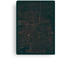 Houston Map Red Canvas Print
