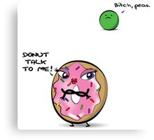 Miss Donut & M. Peas Canvas Print
