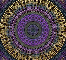 3-D Fractal Mandala by Lyle Hatch