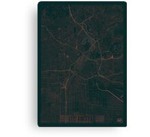 Los Angeles Map Red Canvas Print