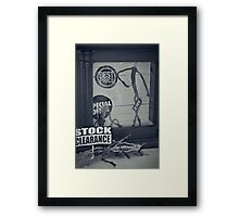 Mr.Wire: Along this tightrope of Wire to stand by. Framed Print