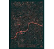 London Map Red Photographic Print