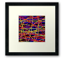 Primary Chaos Framed Print