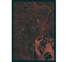 Tokyo Map Red Photographic Print