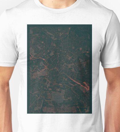 Berlin Map Red Unisex T-Shirt