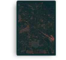 Berlin Map Red Canvas Print