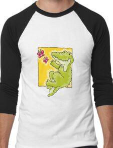 Green Crocodile Men's Baseball ¾ T-Shirt
