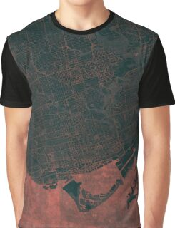 Toronto Map Red Graphic T-Shirt