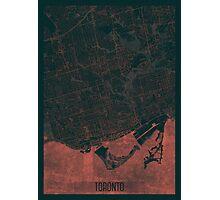 Toronto Map Red Photographic Print