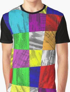 Crazy Colour Tiles Graphic T-Shirt