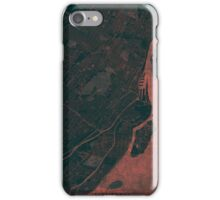 Montreal Map Red iPhone Case/Skin