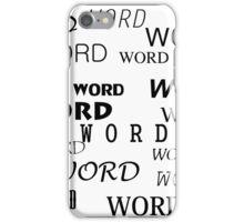word iPhone Case/Skin