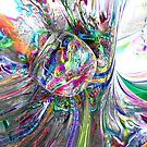 Frozen Rainbows Abstract by Alexander Butler