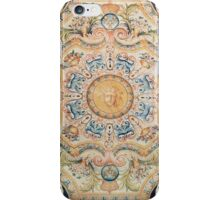 Detail of a Savonnerie carpet made for the Grande Galerie of the Louvre iPhone Case/Skin