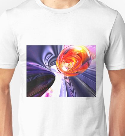 Rolled Creases Abstract Unisex T-Shirt