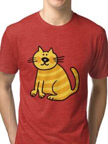 Yellow Cat Tri-blend T-Shirt