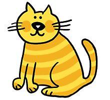 Yellow Cat Photographic Print