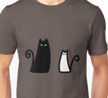 Stylized Black and White Cat Unisex T-Shirt
