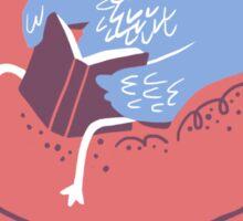 Book (worm) Bird Sticker