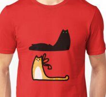 Fluffy Black Cat and Tabby Unisex T-Shirt