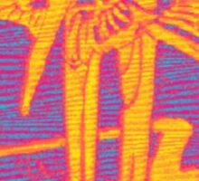 INFRARED SWALLOWS DESIGN Sticker