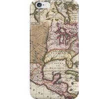 Vintage Map of The Americas (1698)  iPhone Case/Skin