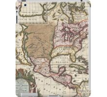 Vintage Map of The Americas (1698)  iPad Case/Skin
