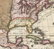 Vintage Map of The Americas (1698)  Sticker